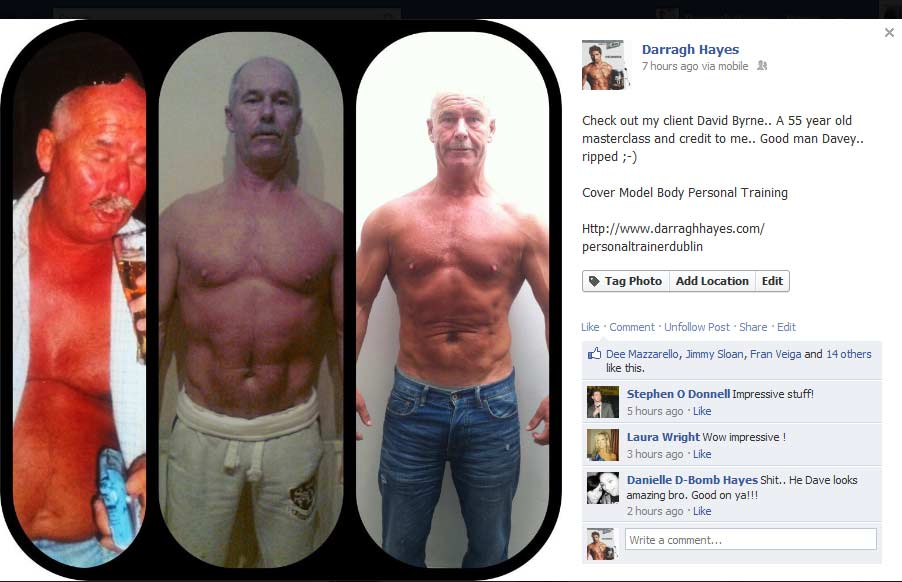 Dave Byrne 3 month Transformation