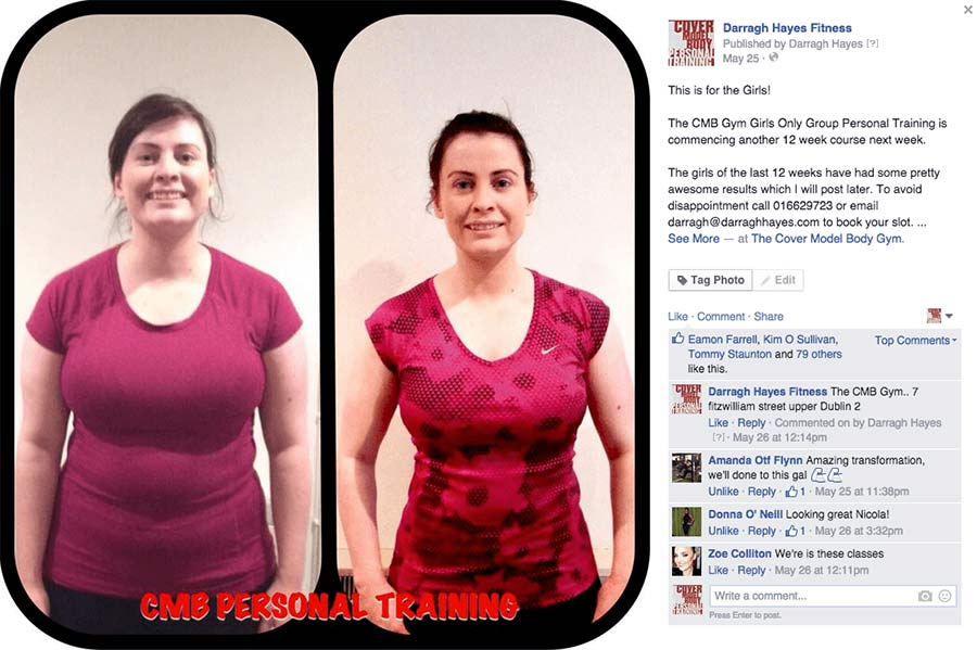 Nicola Dropped over 12% bodyfat and lost over 14kgs