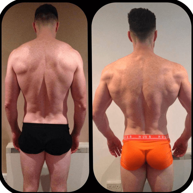 Paul back shot after 12 weeks.